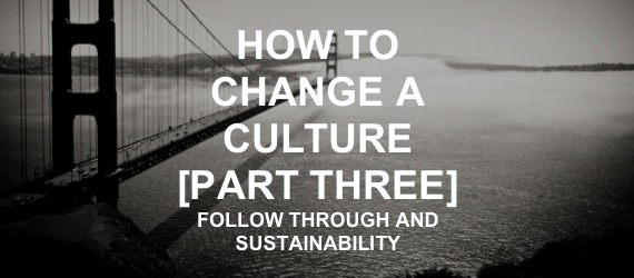 HOW TO CHANGE A CULTURE 3